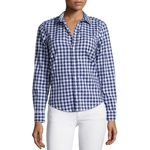 Frank & Eileen Gingham Plaid Button-Down Shirt S